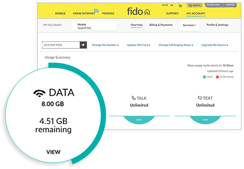 Manage Your Fido Services | My Account | Fido