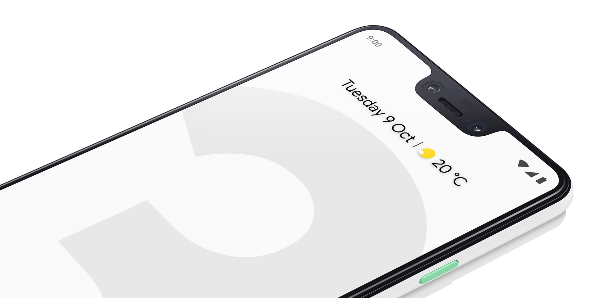 Google Pixel 3 in Clearly White, Just Black and Black and White
