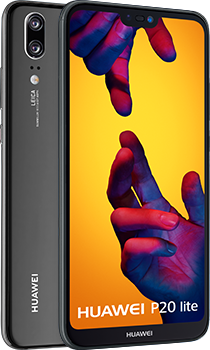 HUAWEI P20 lite phone, front and back views