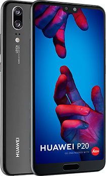 HUAWEI P20 phone, front and back views