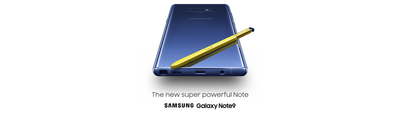 Samsung Galaxy Note9 phone with the S Pen
