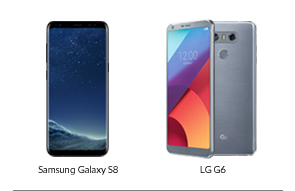 A Samsung Galaxy S8 and LG G6, just two of many great cellphones that Fido had to offer their customers