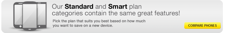 Our Standard and Smart plan categories contain the same great features!