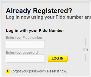 how to pay fido bill online