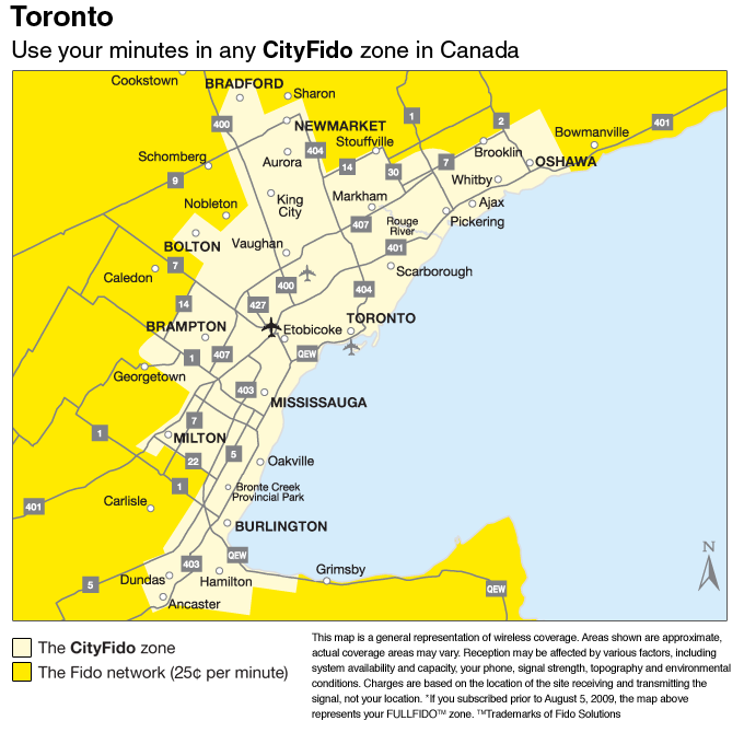 RogersFido They Now Have Made The Local Calling Area Smaller To - Rogers us coverage map