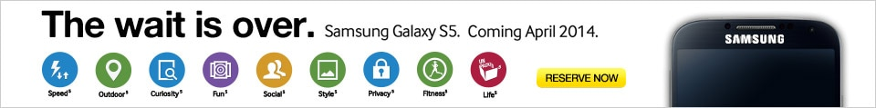 Reserve now - Samsung S5