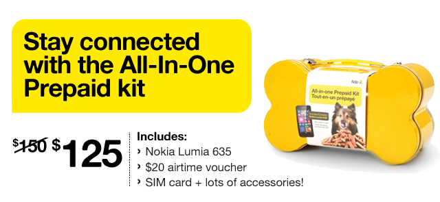 Stay connected with the All-In-One Prepaid kit