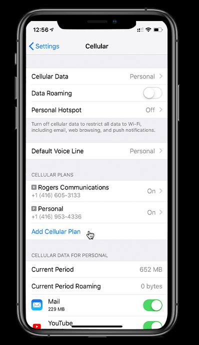Configuration D Une Carte Sim Virtuelle Esim Pour Iphone Xr Iphone Xs Et Soutien Fido