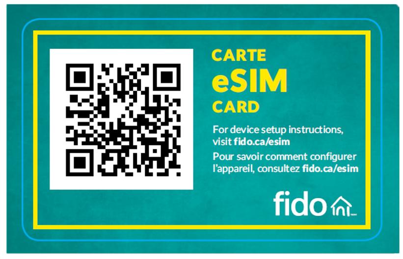 Picture of eSim card